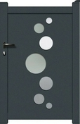 Portillon BEA en aluminium haut.1,60m larg.1,05m gris - Sol vinyle PREMIUM lame à clipser ép.4,5mm larg.187mm long.1251mm chêne clair nature planche - Gedimat.fr