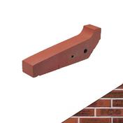 Appui de fenêtre prémaçonnés PENTABRIC larg.30cm long.50cm ligne étirée flammée coloris terre de rose - Eléments pré-fabriqués - Matériaux & Construction - GEDIMAT