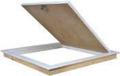 Trappe de visite bois prépeinte étanche et isolée pour plafond - 500x600mm - R=3,15 m2 K/W - Accessoires plaques de plâtre - Isolation & Cloison - GEDIMAT