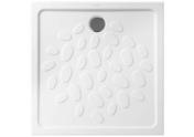 Receveur carré à poser ou à encastrer OCEAN en céramique haut.4cm larg.80cm long.80cm blanc - Garde-corps d'étage pour escalier NICE LINE GC - Gedimat.fr