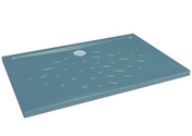 Receveur à poser ou à encastrer OCEAN céramique haut.4cm long.120cm larg.90cm gris anthracite - Courbe cuivre à souder grand rayon mâle-femelle 5001A angle 90° diam.28mm avec lien 1 pièce - Gedimat.fr