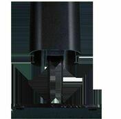 Platine en T (inversé) dim.110 x 110 mm gris texturé - Ecrans - Clôtures - Menuiserie & Aménagement - GEDIMAT