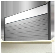 Panneau verre synthétique pour clôture long.1,80m - Tuile châtière DC12 coloris panaché foncé - Gedimat.fr