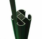 Glissière en aluminium dim.25x2300mm gris texturé - Olive laiton bicone pour tube diam.14mm - Gedimat.fr
