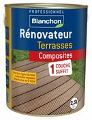 Renovateur terrasses composites 2,5L - Traitements curatifs et préventifs bois - Aménagements extérieurs - GEDIMAT