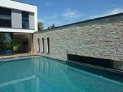 Parement en plaques long.42/21cm haut.15/7.5cm coloris naturel - Briques et Plaquettes de parement - Aménagements extérieurs - GEDIMAT