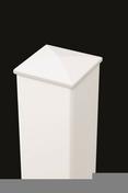 Poteau aluminium section 15x15 cm haut.2,20m blanc - Piliers - Murets - Aménagements extérieurs - GEDIMAT