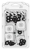 Fixation 3en1 pour plaque support de tuiles sur bois, Tirefond TH à bourrer diam.8mm long.130mm + plaquette + rondelle - 25 pièces - Cuve de stockage en béton PACK'EAU 3000l haut.2,00m larg.1,20m long.2,40m - Gedimat.fr