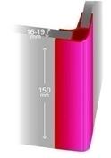 Profil d'angle droit PVC pour plinthes de hauteur 15 cm et d'épaisseur 16 mm gris - Manchon acier galvanisé 270 égal femelle femelle à butée diam.26x34 en vrac 1 pièce - Gedimat.fr