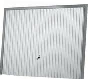 Porte de garage basculante 114 m�tallique haut.2,00m long.2,375m coloris blanc RAL9016 - Portes de garage - Menuiserie & Am�nagement - GEDIMAT