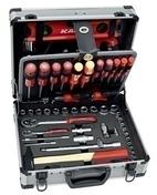 Mallette à outils aluminium 130 pièces - Boîtes à outils - Coffres - Servantes - Outillage - GEDIMAT