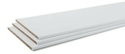 Tablette mélaminée CONFORT ép.18mm larg.40cm long.2,50m blanc - Lambris PVC ELEMENT COMPACT aboutable ép.8mm larg.375mm long.1,20m blanc mat - Gedimat.fr