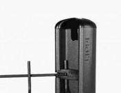 Agrafes d'angle pour poteau ISIS, sachet de 4 agrafes - Poteau ISIS en acier galvanisé Haut.1,30 m à sceller Noir - Gedimat.fr