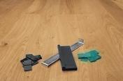 Kit de pose sol stratifié et parquet - Sol stratifié SOLID PLUS lames ép.12mm larg.214mm long.1286mm coloris Chêne Pralin - Gedimat.fr