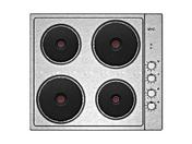 Plaque de cuisson 4 feux électiques VIVA 60cm coloris inox - Porte d'entrée HANOI en aluminium laqué gauche poussant haut.2,15m larg.90cm gris/blanc - Gedimat.fr