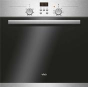 Four multifonction catalyse VIVA 67L coloris inox - Meuble de cuisine GLOSS BLANC bas angle droit haut.70cm larg.100cm prof.58cm + pieds réglables de 12 à 19cm décor métal blanc laqué - Gedimat.fr