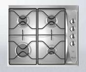 Plaque de cuisson 4 feux gaz (1000W, 2 x 1650W, 3000W) WHIRLPOOL 60cm coloris inox - Plaque de cuisson 4 feux gaz (1000W, 2 x 1750W, 3000W) WHIRLPOOL 60cm coloris inox - Gedimat.fr