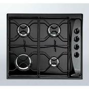 Plaque de cuisson 4 feux gaz (1000W, 2 x 1650W, 3000W) WHIRLPOOL 60cm coloris noir - Kit d'embouts pour profil de jonction aluminium - Gedimat.fr