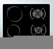 Plaque de cuisson 2 zones induction + 2 feux gaz WHIRLPOOL 60cm coloris noir - Tables de cuisson - Cuisine - GEDIMAT