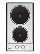 Domino 2 plaques électriques VIVA 30cm acier-inox - Tables de cuisson - Cuisine - GEDIMAT