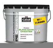 Peinture PE chantier pot de 10L+20%gratuit blanc aspect satin - Peintures - Peinture & Droguerie - GEDIMAT