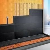 Kit surface tempérée électrique DITRA-HEAT-E Schlüter Systems 8m² - Bloc-porte gravé avec inserts à poser non inclus ESCALE huis.88mm haut.2,04m larg.93cm gauche poussant - Gedimat.fr