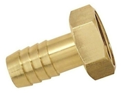 Embout laiton cannelé femelle 26x34 pour tuyau diam.25mm - Tubes et Raccords d'alimentation eau - Plomberie - GEDIMAT