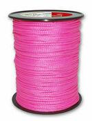 Corde polypropylène tressée résistance à la rupture indicative 40kg Long.200m diam.1,50mm coloris Rose fluo - Chaines - Cordes - Arrimages - Quincaillerie - GEDIMAT