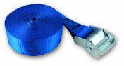 Sangle polypropylène avec came à griffes tension maximale d'utilisation 71 kg larg.25mm Long.5,00m coloris Bleu - Chaines - Cordes - Arrimages - Quincaillerie - GEDIMAT
