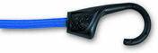 Lot de 2 sandows avec crochet polypropylène âme acier résistance à la rupture indicative 30kg Long.80 cm diam.8mm coloris Bleu - Chaines - Cordes - Arrimages - Quincaillerie - GEDIMAT