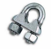 Lot de 4 serre-câbles étrier acier zingué pour câble diam.5mm - Chaines - Cordes - Arrimages - Quincaillerie - GEDIMAT