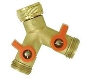 Nez de robinet sélecteur avec 2 sorties vannes mâle 20x27 - Projecteur LED 20W noir avec détecteur - Gedimat.fr