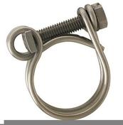 Lot de 2 colliers double fils acier pour tuyau diam.30mm - Colliers de serrage - Plomberie - GEDIMAT