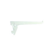 Console simple long.25cm entraxe 5cm blanc - Arêtier à emboîtement coloris argentique - Gedimat.fr