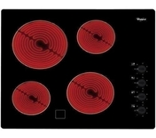 Plaque de cuisson vitrocéramique 4 zones radians WHIRLPOOL 60 cm coloris noir - Tables de cuisson - Cuisine - GEDIMAT