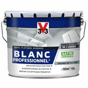 Peinture acrylique blanc professionnel satin 10L - Doublage isolant plâtre + polystyrène PREGYSTYRENE TH32 ép.13+60mm larg.1,20m long.2,60m - Gedimat.fr