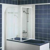 Pare baignoire 3 volets FARA haut.1,40m long.1,520cm verre transparent - Ecrans de baignoire - Salle de Bains & Sanitaire - GEDIMAT