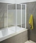 Pare baignoire 3 volets FARA haut.1,40m long.1,520cm verre sérigraphié - Ecrans de baignoire - Salle de Bains & Sanitaire - GEDIMAT