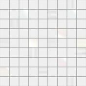 Décor CUBIC pour mur en faïence BLACKANDWHITE sur trame dim.31,6x31,6cm coloris white - Carrelages murs - Cuisine - GEDIMAT