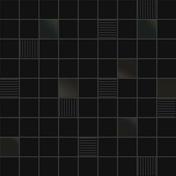 Décor CUBIC pour mur en faïence BLACKANDWHITE sur trame dim.31,6x31,6cm coloris black - Panneau de Particule Surfacé Mélaminé (PPSM) ép.16mm larg.2,07m long.2,80m Blanc Yukon finition Perlé - Gedimat.fr