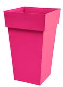 Pot TOSCANE carré dim.39x39cm haut.65cm rose fushia - Jardinières - Poteries - Plein air & Loisirs - GEDIMAT