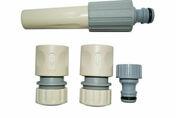 Kit complet d'arrosage plastique pour tuyau diam.19mm - Tuyaux d'arrosage - Plein air & Loisirs - GEDIMAT