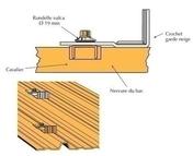 Crochet Garde neige, pour couverture acier et ardoise, RAL 8012 Rouge Tuile - Bacs acier - Couverture & Bardage - GEDIMAT