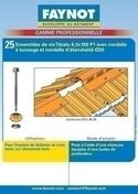 Fixation de faitière et rives en bac acier sur panne bois, RAL 8012 Rouge Tuile Blister de 25 pièces - Bacs acier - Couverture & Bardage - GEDIMAT