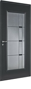 Porte d'entrée NAPALI en acier laqué gauche poussant haut.2,15m larg.90cm - Adaptateur en acier émaillé femelle/femelle diam.150mm noir mat - Gedimat.fr