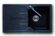 Evier à encastrer 1 bac + 1 égouttoir MIDWAY en SMC larg.50cm long.86cm graphite - Evier à encastrer 1 bac 1/2 Malta fragranit+ larg.50cm long.97cm graphite - Gedimat.fr