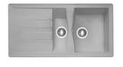 Evier à encastrer 1 bac 1/2 + 1 égouttoir MIDWAY en SMC larg.50cm long.86cm platinum - Table 5 feux gaz BOSCH 70cm coloris inox - Gedimat.fr