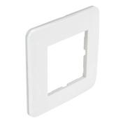 Plaque de finition simple CASUAL coloris blanc brillant - Interrupteurs - Prises - Electricité & Eclairage - GEDIMAT