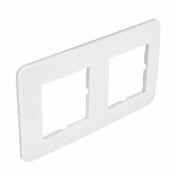 Plaque de finition double CASUAL coloris blanc brillant - Interrupteurs - Prises - Electricité & Eclairage - GEDIMAT