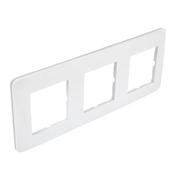 Plaque de finition triple CASUAL coloris blanc brillant - Interrupteurs - Prises - Electricité & Eclairage - GEDIMAT